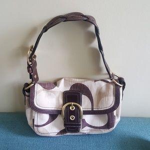 Coach braided leather strap purse